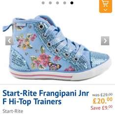Start-Rite Junior Hi-Tops £13 using CODE @ Brantano