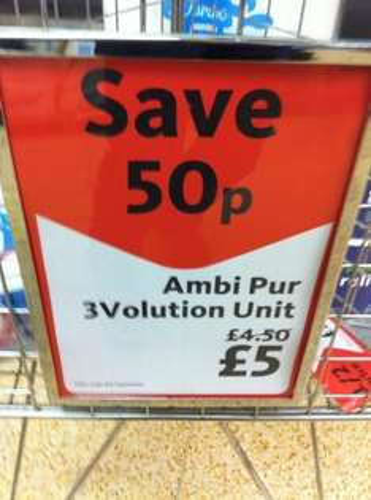 Ambi Pur 3Volution Unit, Morrisons was £4.50 NOW only £5! @ Morrisons