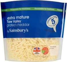 Taw Valley Extra Mature Grated Cheddar (385g) from Sainsbury's was £3.00 now £2.00 (£5.19 a Kilo)