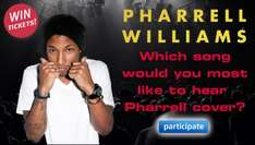 Win 2 Tickets for Pharrell at Manchester @ Fanshake