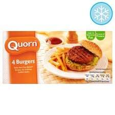 Quorn Burgers 4 Pack 200g £1 at Tesco
