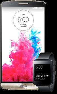 LG G3 Gold and Free LG G Watch £27.50 (24 Months Contract)  500 minutes   Unlimited texts 1 GB data TALKTALK