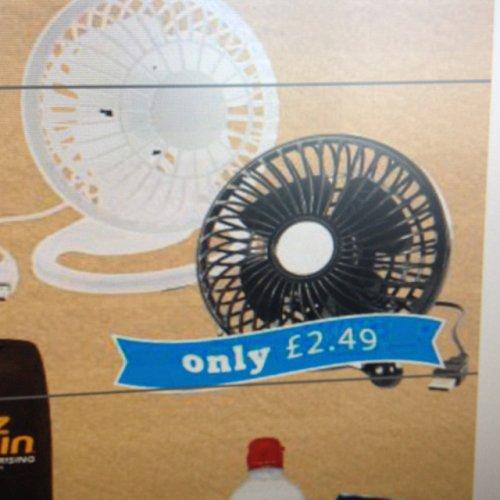 USB desk fan £2.49 at home bargains