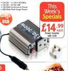 150w Inverter - £14.99 @ Netto