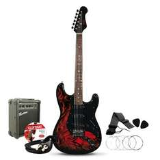 Jaxville Demon ST Style Electric Guitar Pack @ Amazon