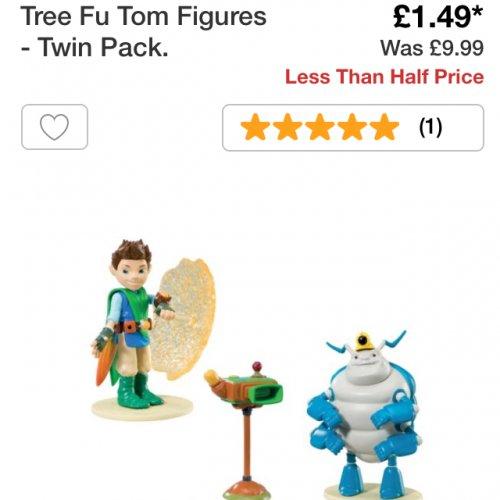 Tree fu tom figure pack £1.49 was £9.99 @ Argos