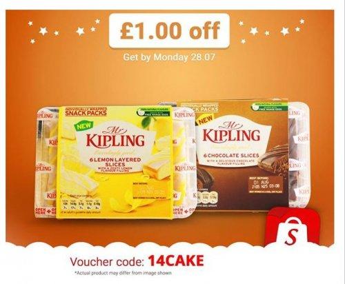 Enter 14CAKE in the Shopitize App for £1 off Mr Kipling Layered Lemon/Chocolate Slices - 96p @ Asda = 4p profit...