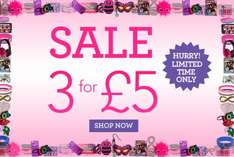 Claire's accessories all sale items 3 for £5 online & instore