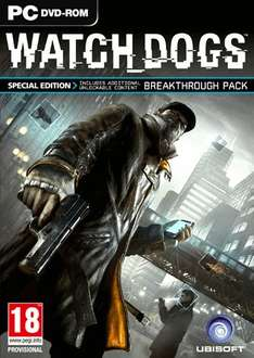 Watch Dogs PC Special Edition (4 DLC Packs)  £14.75 with 5% off Facebook code @ CDkeys.com