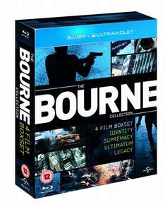 The Bourne Collection [Blu-ray+UV], all 4 movies, Amazon UK £10.60 delivered