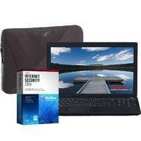 """coop electrical shop Toshiba Satellite C50D-138 Laptop with Targus A7 Laptop Case & McAfee Internet Security 2014, AMD E1-2100, 2GB, 500GB, Windows 8.1, 15.6"""" Display £239.99 free delivery"""