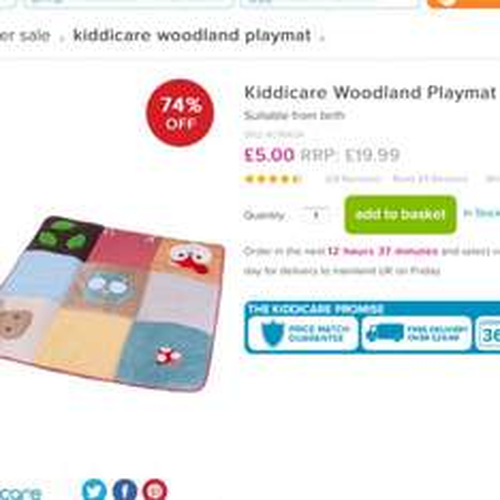 Woodland Playmat £7.99 at Kiddicare