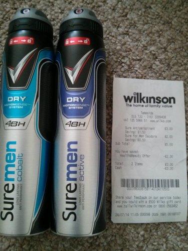 Suremen Anti Perspirant @ Wilkinson's £1.50