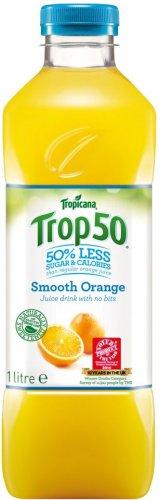 Tropicana Trop50 Smooth Orange Juice Drink with No Bits - No Added Sugar (1L) ONLY £1.00 @ Asda