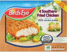 Birds Eye Southern Fried Chicken (4 per pack - 360g) was £3.25 now £1.62 @ Tesco