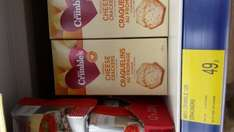Mrs Crimbles gluten free cheese crackers 0.49p @ B&M