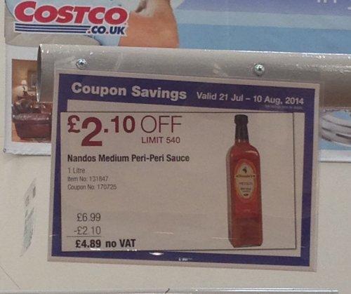 1L Nandos Medium Peri-Peri Sauce, £4.89