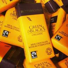 Miniature green and blacks milk chocolate with butterscotch 6 for 50p @ home bargains