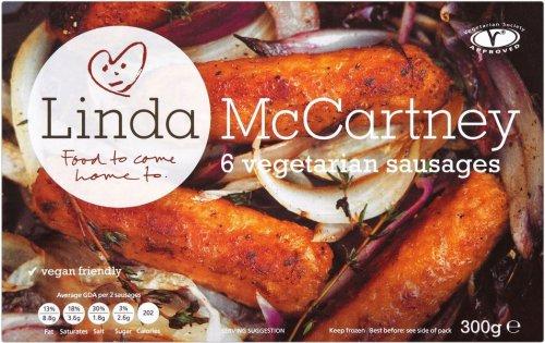 Linda McCartney Frozen Vegetarian Sausages (6 per pack - 300g) was £1.70 now £1.13 @ Ocado