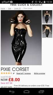 Pixie corset £10.50 (£8.00 + £2.50 delivery) @ Ann Summers