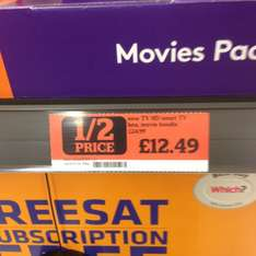 Now TV box £12.49 instore at Sainsbury's for £12.49