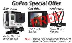 GoPro Hero 3+ Black Edition + LCD Touch BacPac + Chest Mount Harness Midland Helis £308.49 @ Model helicopters