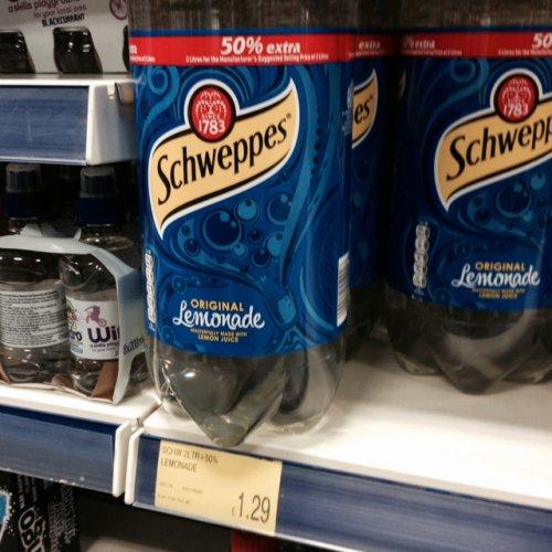 Schweppes original lemonade 3 litre bottle £1.29 in B@M
