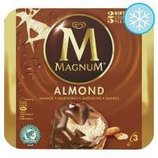 Magnum Almond Ice Cream 3 X 110Ml  any 2 for £3.00 @ Tesco