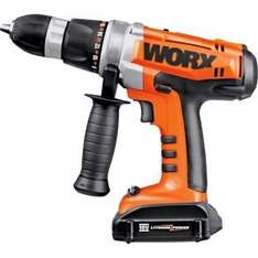 18V Worx Lithium Ion Hammer Drill with 2 Batteries - Argos £64.99