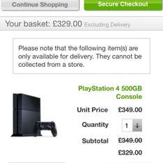 PS4 console £329 using discount code at Asda Direct