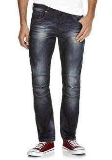 50% off F&F Dark Wash Biker Slim Fit Jeans £11 @ Tesco