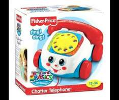 Back in stock Fisher Price Chatter Phone £4 @ Tesco