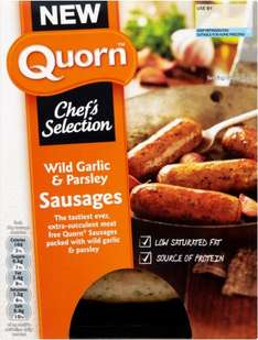 Quorn Chef's Selection Wild Garlic & Parsley Sausages (240g) was £2.00 now £1.50 @ Sainsbury's