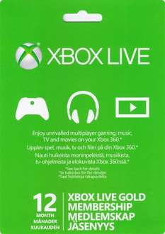 Xbox LIVE Gold 12 Month Membership (Xbox 360 / Xbox one) for £21.95 @ The Game Collection (Physical)