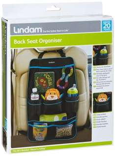 Lindam Back Seat Organiser  (50%off ) @ Amazon - £4.95 (free delivery £10 spend/prime/locker)