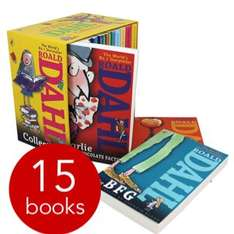 Roald Dahl 15 book set in slipcase for £13.59 delivered with code from book people