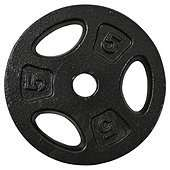 One body 5 kg cast iron weights £6.00 @ Tesco Direct