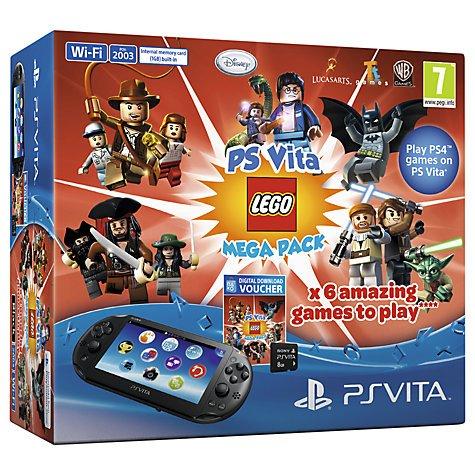 Sony PlayStation Vita Slim Wi-Fi/3G with LEGO Mega Pack and 8GB Memory Card Includes 2 Year Warranty @ John Lewis £159.95