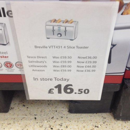 Breville 4-Slice Toaster £16.50 instore @ Tesco
