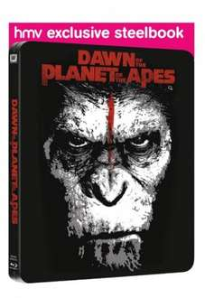 dawn of the planet of the apes bluray 3d steelbook at hmv for £20