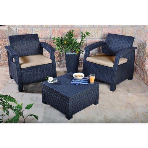 Keter Corfu 2 Seater Balcony Set, with Table £149.99 @ Amazon