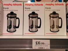 Morphy Richards Equip Cafetiere for £6.99 at home bargains