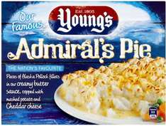Young's Admiral's Pie (340g) was £1.50 now 74p (Again) @ Morrisons