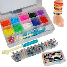 2000 COLOURFUL RAINBOW LOOM BANDS BRACELET MAKING KIT SET WITH S-CLIPS £9.99 @ eBay homes-store