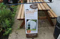 Walk in greenhouse with staging £5.00 @ Wilko instore