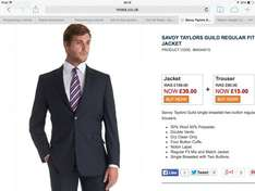 SAVOY TAYLORS GUILD REGULAR FIT BLACK MIX & MATCH FINE STRIPE SUIT £54 @ Moss Bros
