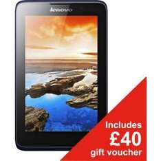 """Lenovo A7 7"""" Inch 1.3GHz Tablet - 16GB, Quad-Core, Android, Wi-Fi. Reduced to £109.99 AND £40 in gift vouchers @ Argos. If you''ll spend £40 in Argos then the tablet will have cost £69.99!! Updates to Kitkat ver 4.4.2."""