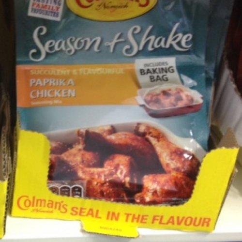 Colmans Paprika Chicken Season & Shake 39p B&M Stores