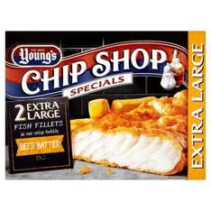 Young's Chip Shop Extra Large Fish Fillets in Beer Batter (2 per pack - 320g) £1 @ Farm Foods