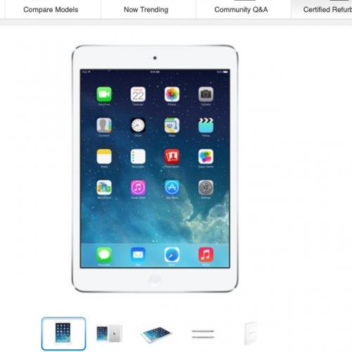Refurbished iPad mini with Retina display Wi-Fi 16GB - Silver £269.00 @ Apple